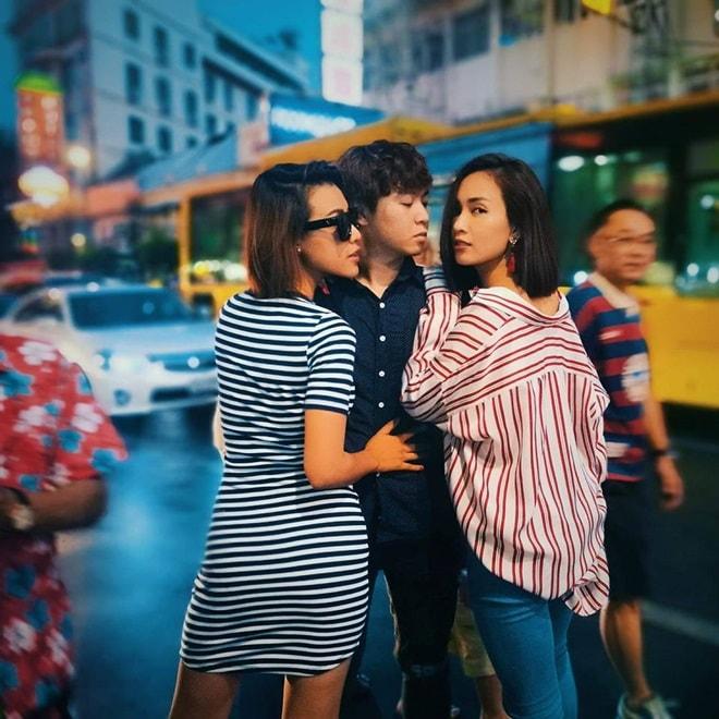 """""""Bật ngửa"""" với trang phục sao Việt diện trong lễ té nước Thái Lan - hình ảnh 4"""