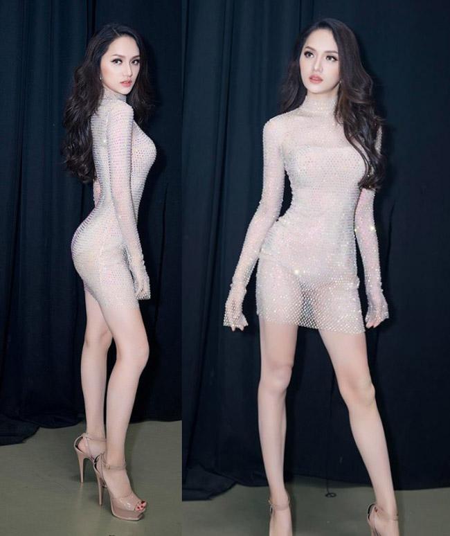 """Váy màu nude dễ mắc lỗi phản cảm của Elly Trần, """"bé heo"""" Minh Hằng - hình ảnh 12"""