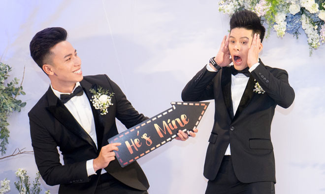 Trấn Thành dự tiệc cưới đồng giới của John Huy Trần - hình ảnh 1