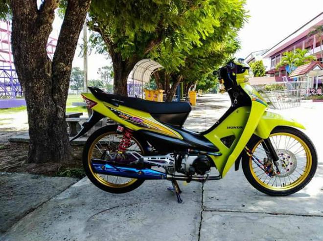 Ngắm Honda Wave S xanh độ vành vàng đẹp lung linh - 1
