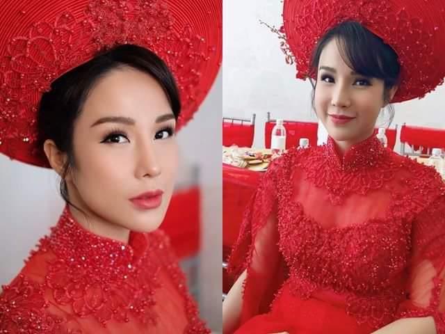 """Cô dâu Diệp Lâm Anh lộ vòng 2 """"phát tướng"""" trong lễ rước dâu"""