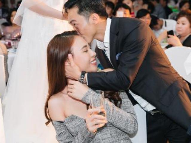 Cường Đô la công khai hôn Đàm Thu Trang trước trăm ánh mắt