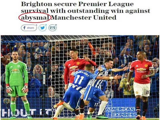 """MU mất mặt trước """"tí hon"""": Báo Anh """"dậy sóng"""" vì thầy trò Mourinho"""