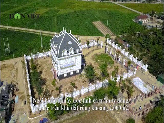 """Clip: Toàn cảnh biệt thự """"siêu khủng"""" ở làng quê Hà Tĩnh của cụ bà U80"""