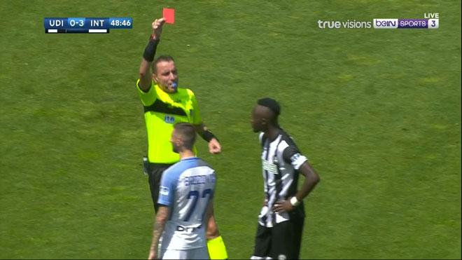 Udinese - Inter: Thẻ đỏ nghiệt ngã, sống lại hy vọng top 4 - 1