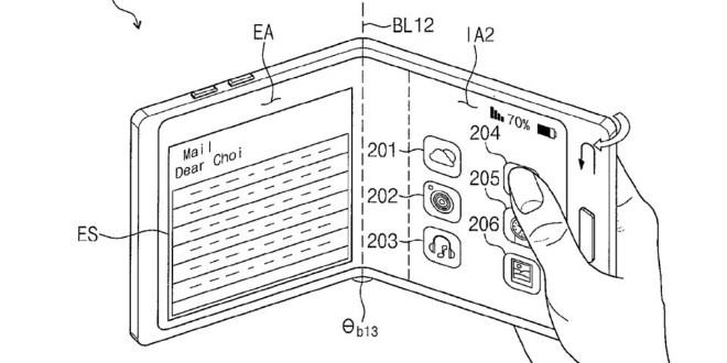 """NÓNG: Samsung Galaxy X có thể gập 3 khiến làng smartphone """"choáng"""" - 1"""