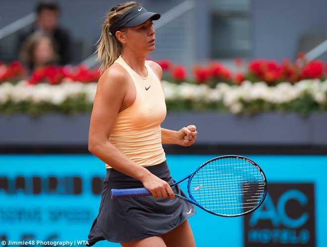 Sharapova - Begu: Khởi đầu vất vả, những phút rực lửa (Vòng 2 Madrid Open) - 1