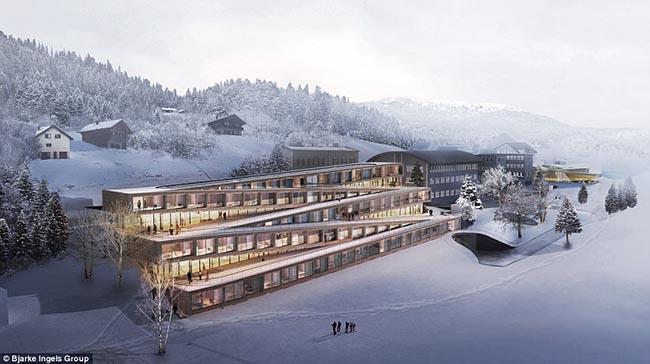 """Choáng với khách sạn """"chơi sang"""", đem cả khu trượt tuyết lên mái nhà - 1"""