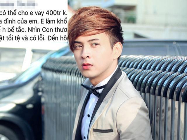 Hồ Quang Hiếu đáp trả sốc khi fan nhắn tin vay 400 triệu đồng