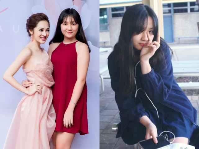 Bảo Anh khoe em gái 16 tuổi cao như người mẫu