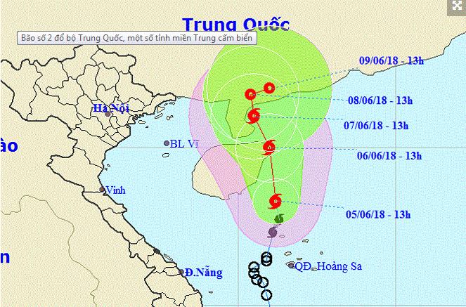 Bão số 2 đổ bộ Trung Quốc, một số tỉnh miền Trung cấm biển - 1