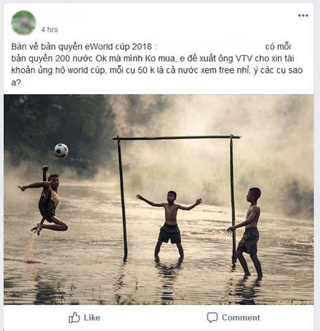 Dân mạng kêu gọi góp tiền mua bản quyền World Cup 2018 và những phản ứng sau đó... - 1