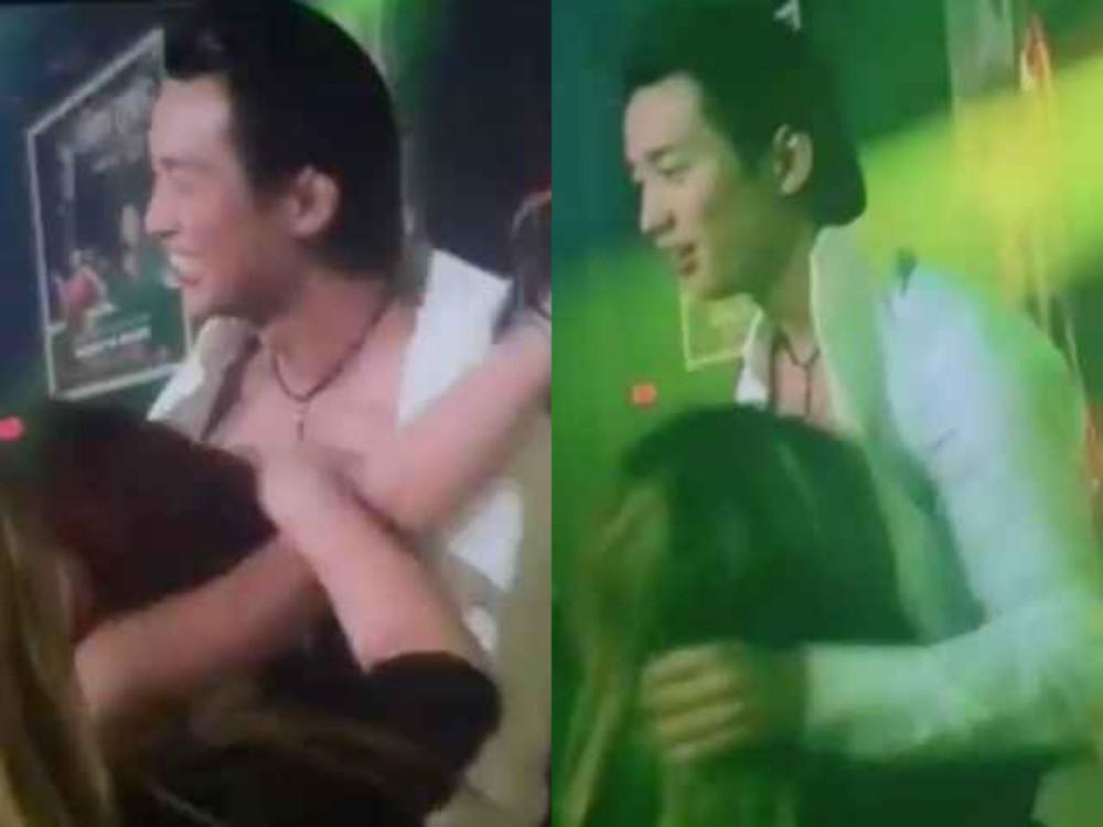 Đan Nguyên bị fan nữ cởi áo, ôm hôn ngực khi đang diễn - 1