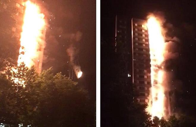 Vụ cháy chung cư 72 người chết ở Anh: Video lửa lan nhanh chưa từng thấy - 1