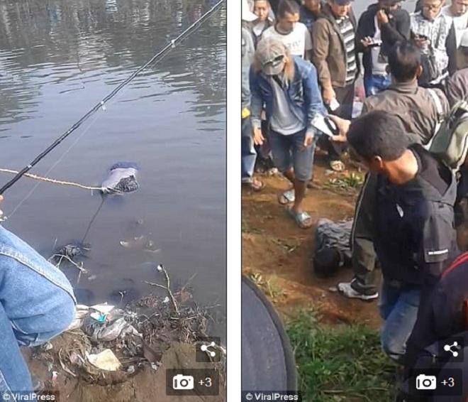 Indonesia: Khấp khởi câu được cá lớn, không ngờ lôi lên… xác người - 1