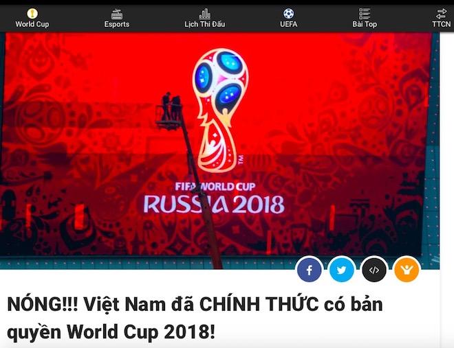Loạn tin bản quyền World Cup 2018, dân mạng như... ngồi trên đống lửa - 1