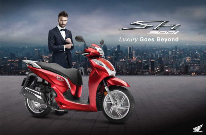 Honda SH300i biết đo nhiệt độ như ôtô, giá 269 triệu đồng - 1