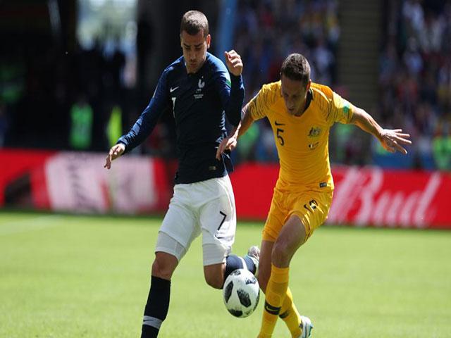 Pháp - Australia: Giằng co kịch tính, hiệp 1 bế tắc (World Cup 2018)