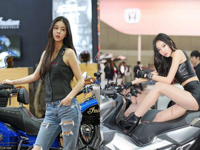 Ngắm người đẹp tựa nữ thần xứ kim chi sexy bên môtô