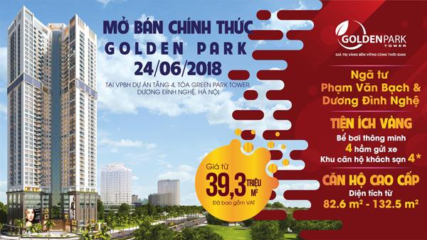 """Cơ hội """"vàng"""" sở hữu căn hộ cao cấp tại dự án Golden Park - 1"""