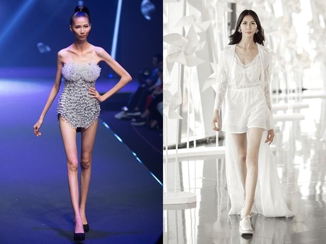 """Quá trình tăng cân """"kinh hoàng"""" của người mẫu siêu gầy Cao Ngân"""