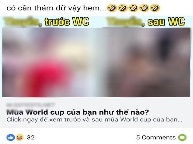 """Thận trọng với ứng dụng """"Mùa World Cup của bạn như thế nào?"""" trên Facebook"""