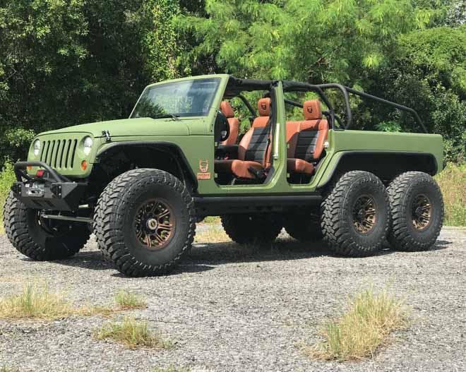 """SUV Jeep Wrangler """"biến hình"""" với bản độ 6 bánh - 9"""