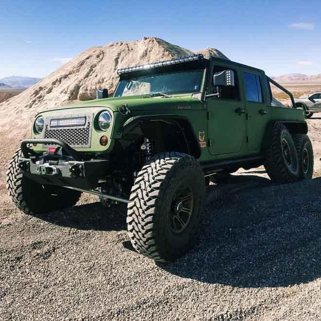 """SUV Jeep Wrangler """"biến hình"""" với bản độ 6 bánh - 10"""