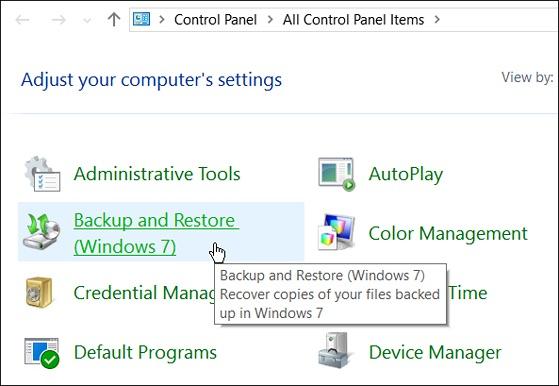 Cách sao lưu toàn bộ dữ liệu trên Windows 10 - 1