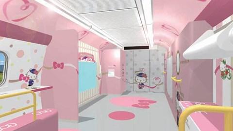 Hàng độc Tàu Cao Tốc Hello Kitty Siêu Dễ Thương ở Nhật Bản