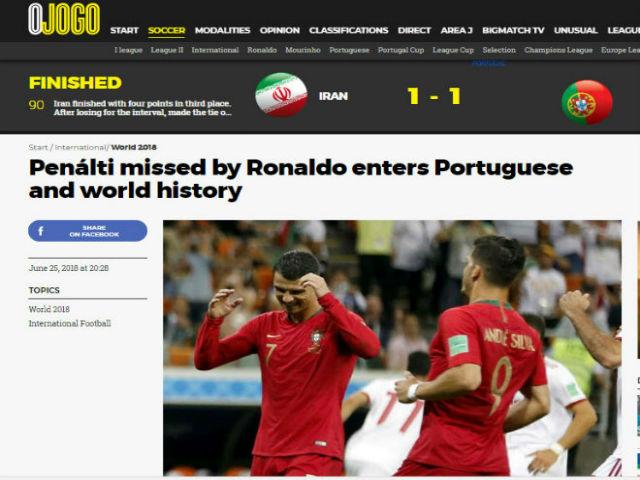 """Ronaldo hỏng 11m kỷ lục, BĐN vào nhánh """"tử thần"""": Báo nhà lo bị loại sớm"""