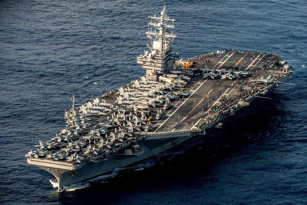 Tàu sân bay Mỹ lại tuần tra Biển Đông - 1