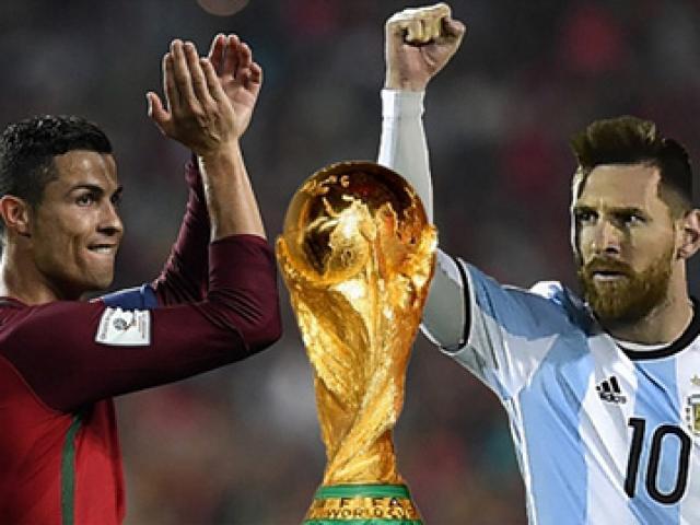 """Ronaldo - Messi mơ vô địch, hẹn tứ kết World Cup: """"Bóng Vàng"""" về tay ai?"""