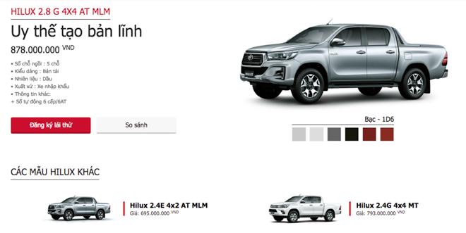 Toyota Việt Nam bổ sung thêm phiên bản mới cho chiếc bán tải Hilux: Giá bán từ 695 triệu đồng - 2
