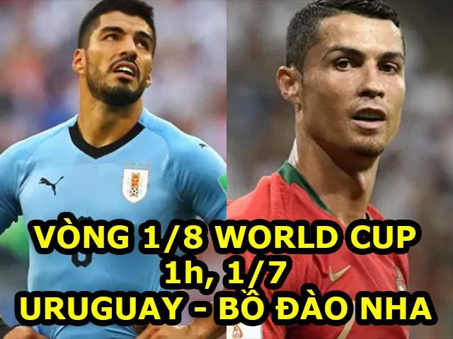 """Nhận định bóng đá World Cup Uruguay – Bồ Đào Nha: """"Đồ tể"""" Suarez chờ """"xử"""" Ronaldo"""