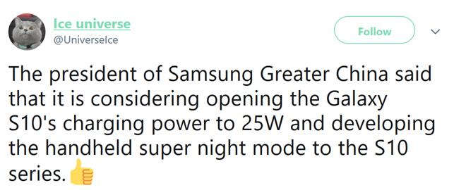 Samsung sẽ cập nhật 2 tính năng mới cho Galaxy S10 - 1