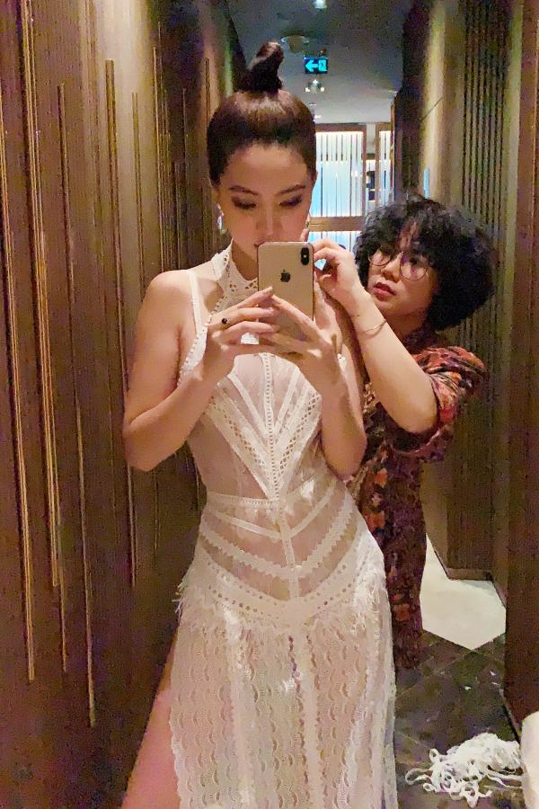 Hoa hậu Jolie Nguyễn diện váy mỏng như sương, lấp ló vòng 3 nóng bỏng - 7