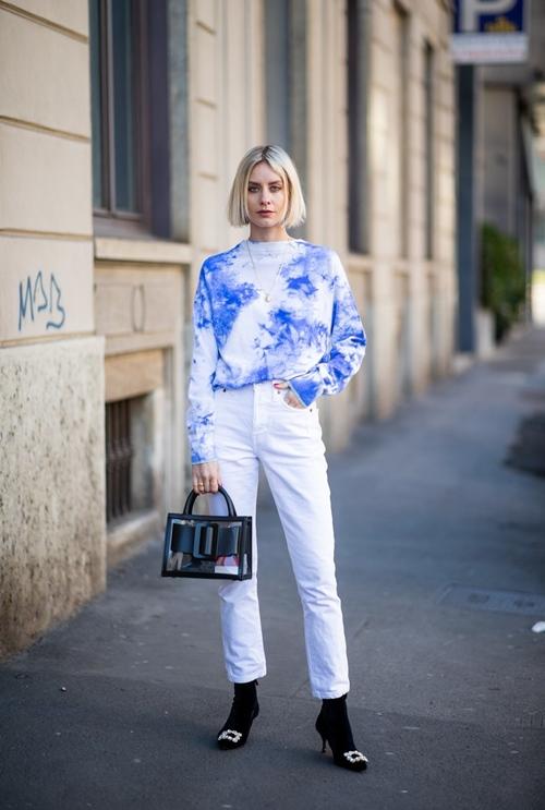 10 công thức tuyệt đẹp cho tín đồ mê quần jeans trắng - 2