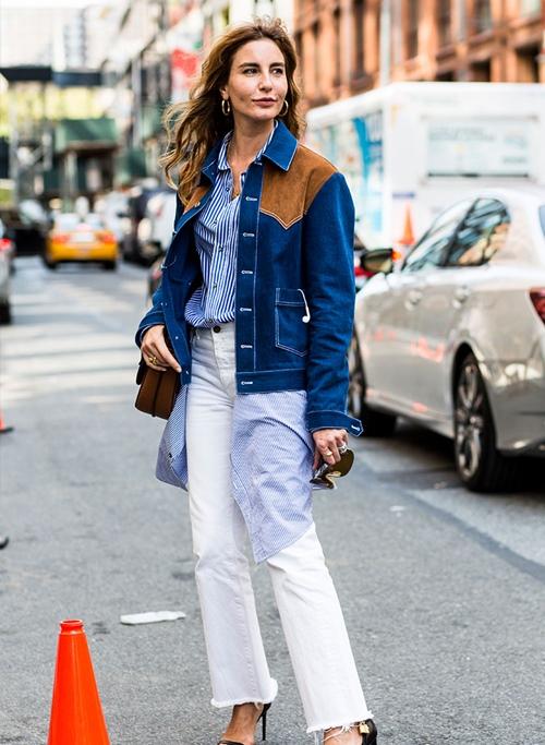 10 công thức tuyệt đẹp cho tín đồ mê quần jeans trắng - 4