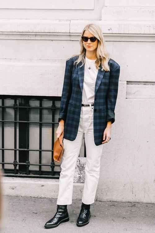 10 công thức tuyệt đẹp cho tín đồ mê quần jeans trắng - 10