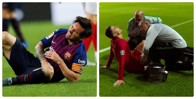 """CĐV """"ám quẻ"""" Ronaldo - Messi chấn thương: Hứa giúp MU hạ Barca cúp C1 - 2"""