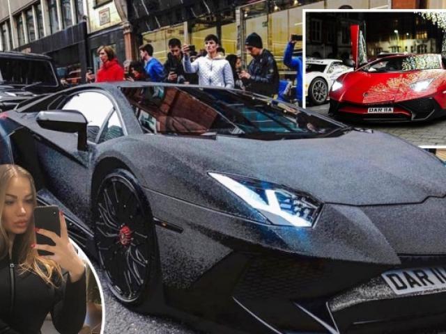 Siêu xe Lamborghini gắn 2 triệu viên pha lê lấp lánh trên đường phố London