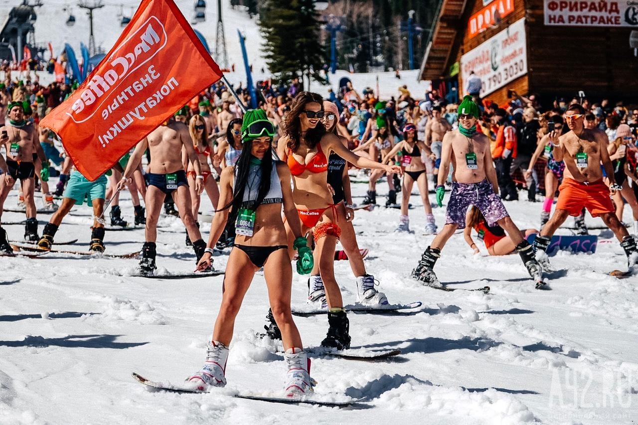 Mặc cái lạnh 15 độ C, hàng trăm cô gái xinh diện bikini trượt tuyết ở Nga - 3