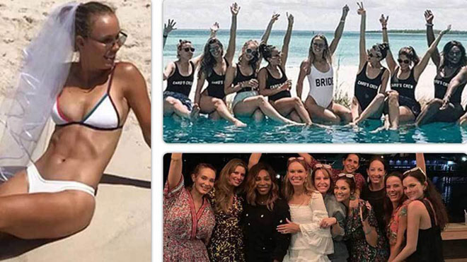 Tennis 24/7: Mỹ nhân Wozniacki chơi lớn dự tiệc bikini hấp dẫn - 1