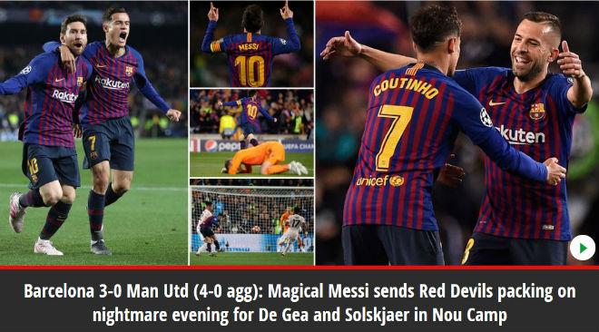 """Barcelona hạ MU: Báo chí Anh kinh ngạc """"ma thuật"""" Messi, chê tội đồ De Gea - 4"""