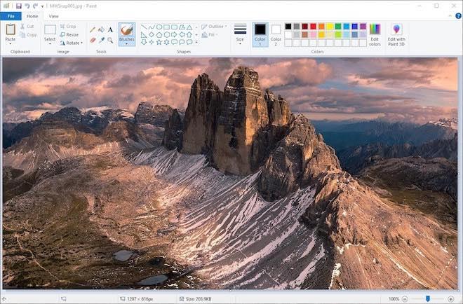 """Microsoft đổi ý định khai tử phần mềm vẽ Paint """"huyền thoại""""? - 1"""