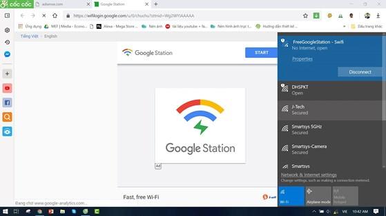 Cách kết nối WiFi miễn phí của Google tại Việt Nam - 1