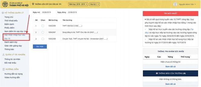 Chi tiết cách nhập học trực tuyến vào lớp 10 THPT ở Thủ đô - 2