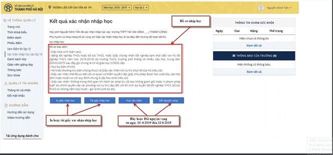 Chi tiết cách nhập học trực tuyến vào lớp 10 THPT ở Thủ đô - 6