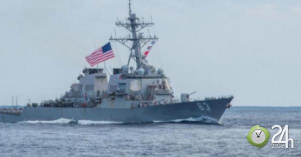 Tàu Hải quân Mỹ đi qua eo biển Đài Loan bất chấp phản đối từ Trung Quốc